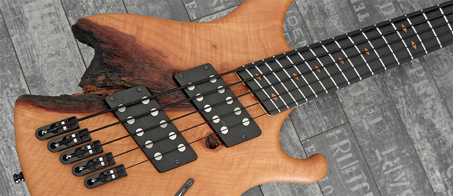 "Bass Professor 5/2018, Test: NATURE SHOCK Full range Multiscale ""Worn & Torn"" 5-String"